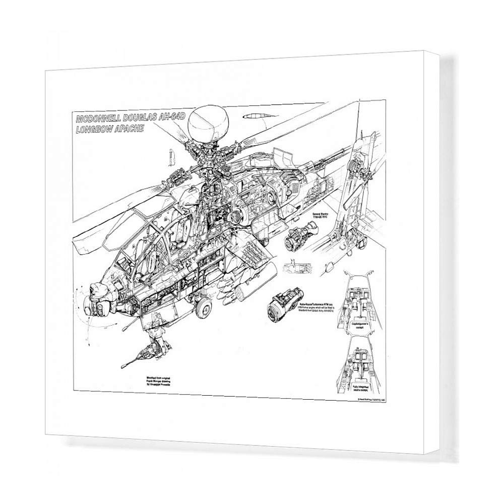 medium resolution of 1000x1000 media storehouse print of boeing ah longbow apache drawing