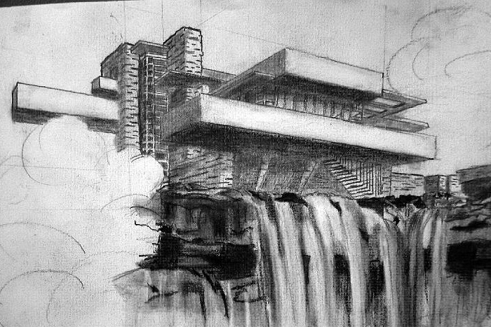architecture art drawing at