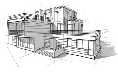 architecture design drawing at