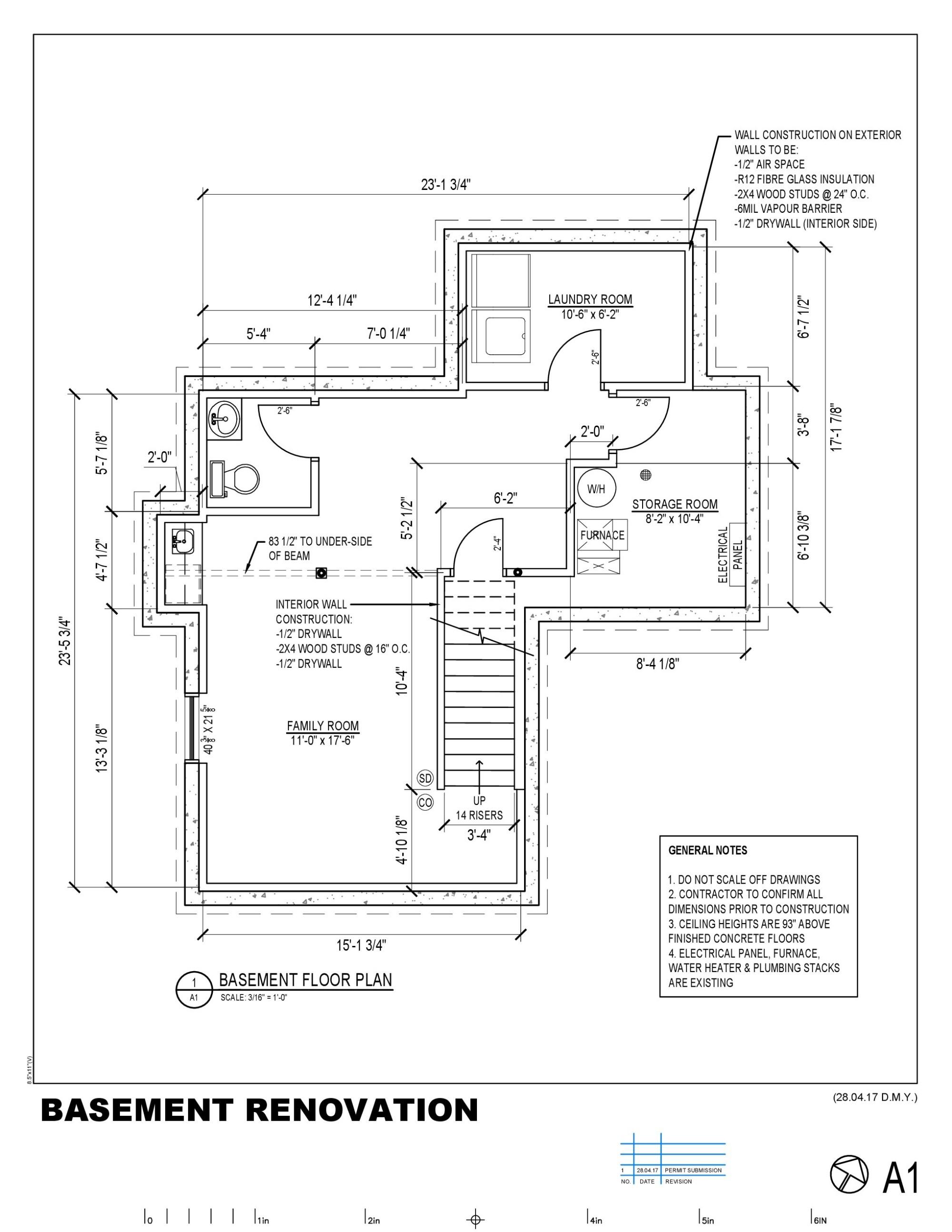 hight resolution of 2040x2640 basement permit drawing basement drawing