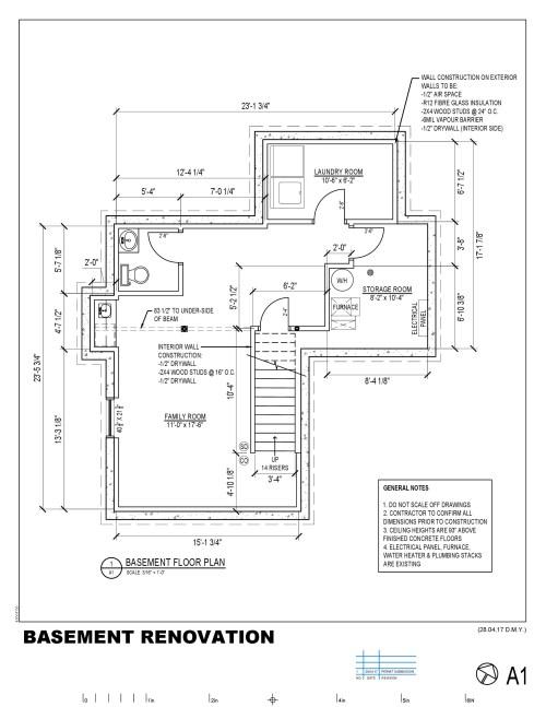 small resolution of 2040x2640 basement permit drawing basement drawing