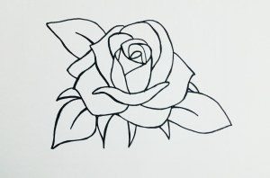 rose easy drawing drawings roses simple basic pretty flower draw beginners tutorial paintingvalley head google ros cartoon explore