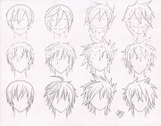 boy hairstyles drawing