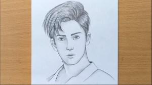 boy pencil drawing draw face sketch step drawings paintingvalley sket paintings