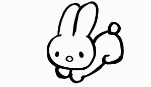 bunny easy drawing simple easter head drawings rabbit draw cartoon bunnies step clipartmag paintingvalley nose