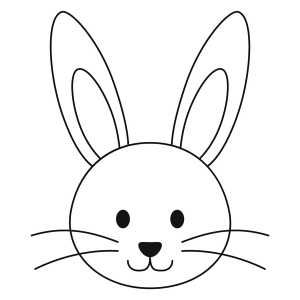 bunny drawing head easter simple outline drawings paintingvalley coloring pages