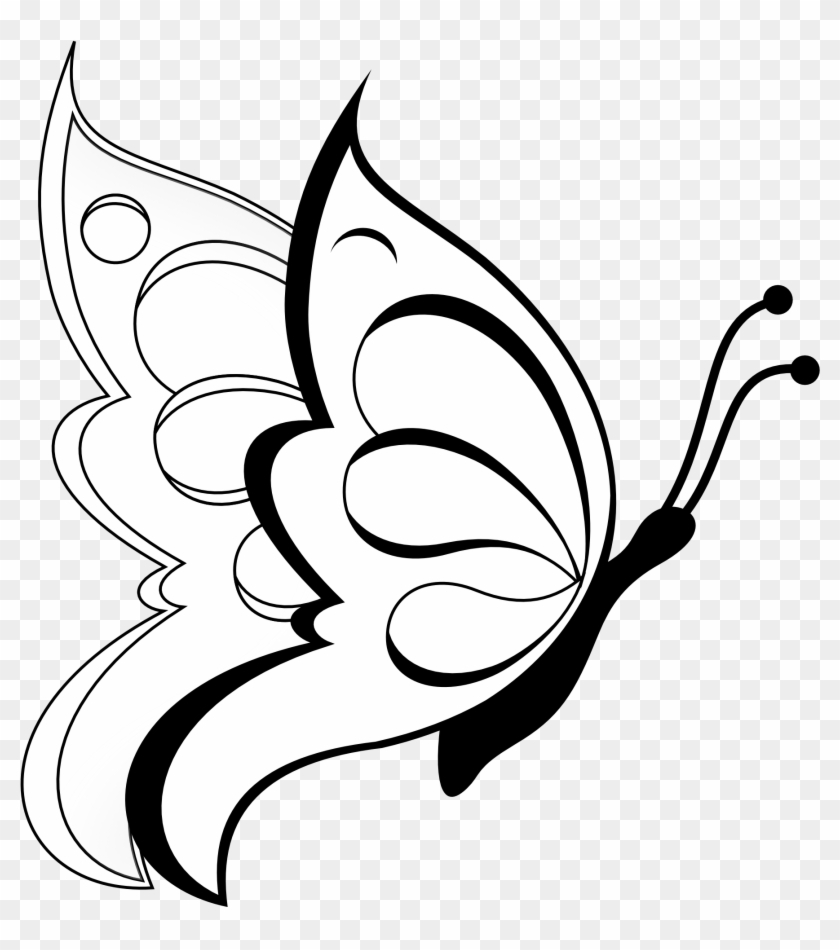 butterfly drawing for children