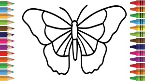 butterfly drawing children butterflies draw coloring pages drawings getdrawings paintingvalley