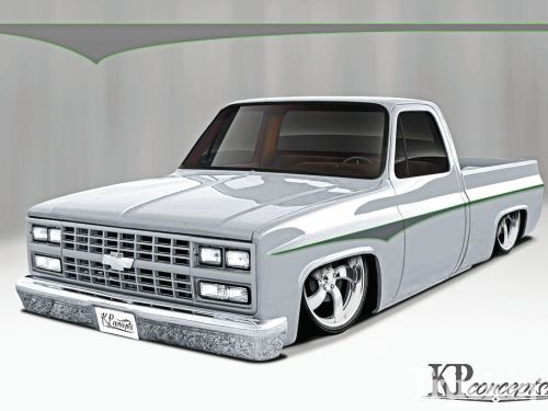 small resolution of 1600x1200 clean cut custom chevy c10 drawing