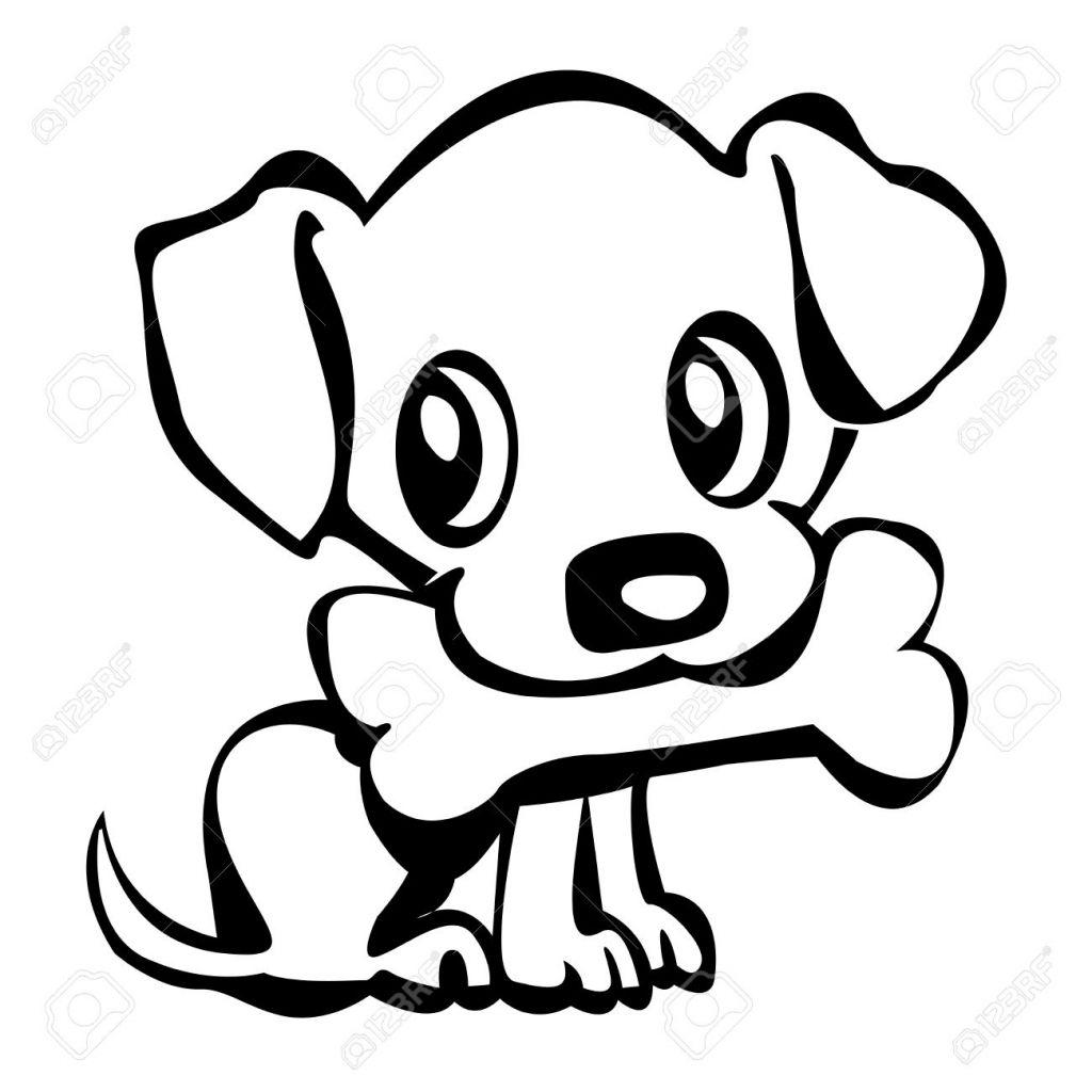 cartoon puppy drawing at