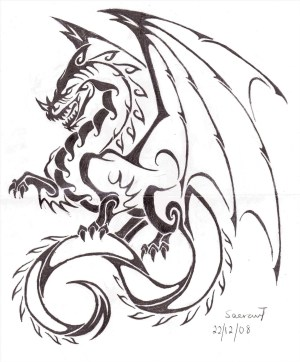 dragon easy chinese drawing drawings draw cool paintingvalley