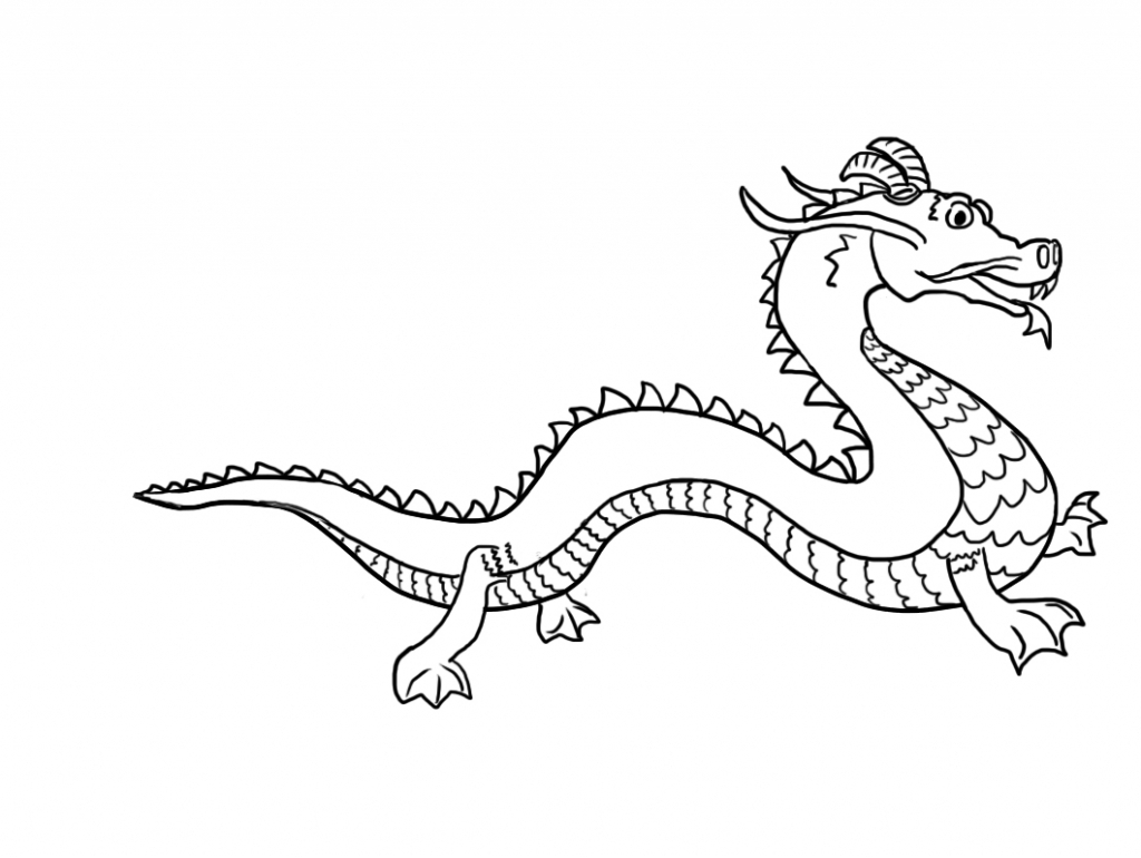 Chinese Dragon Cartoon Drawing Drawing Ideas Collection