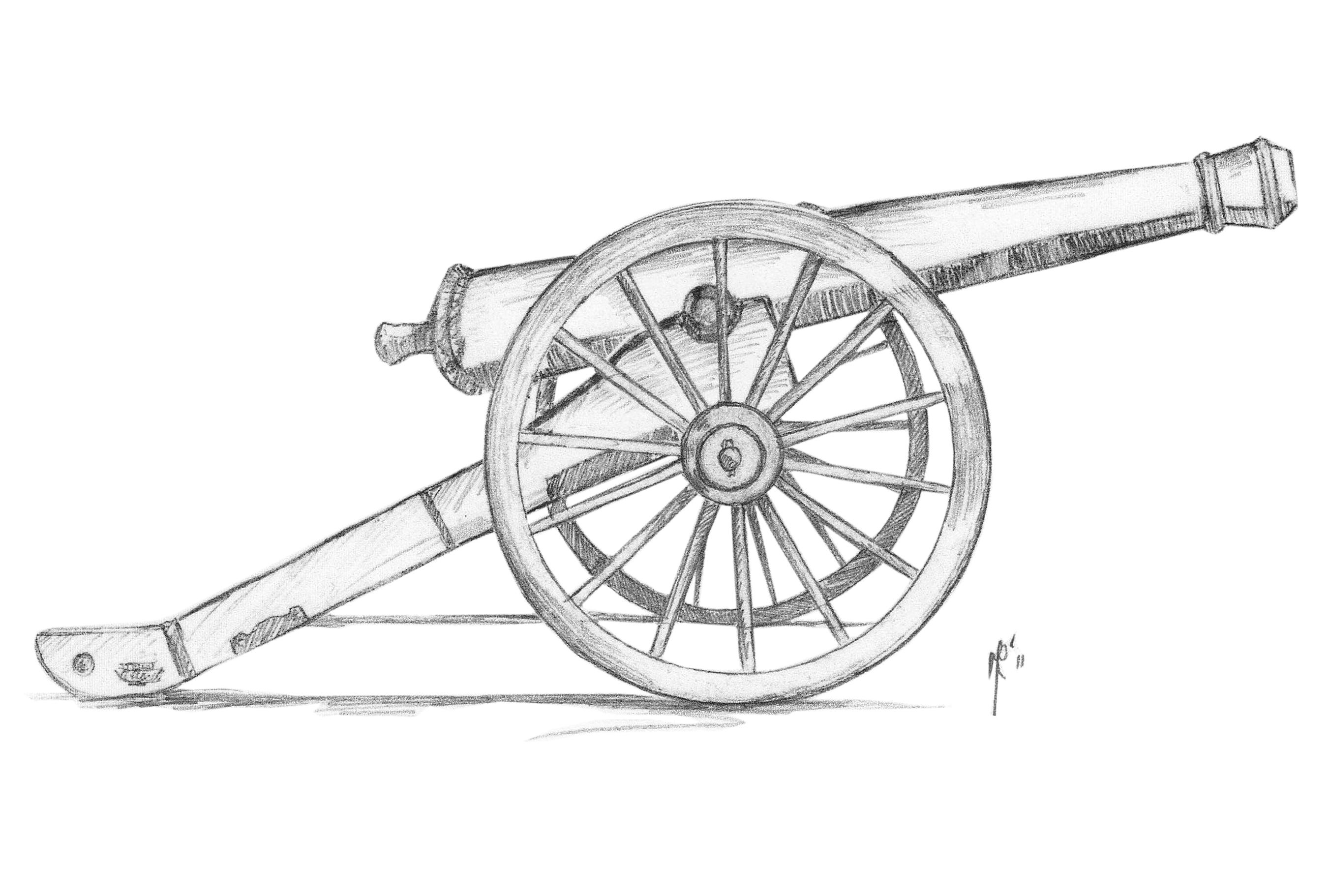 Civil War Cannon Drawing At Paintingvalley