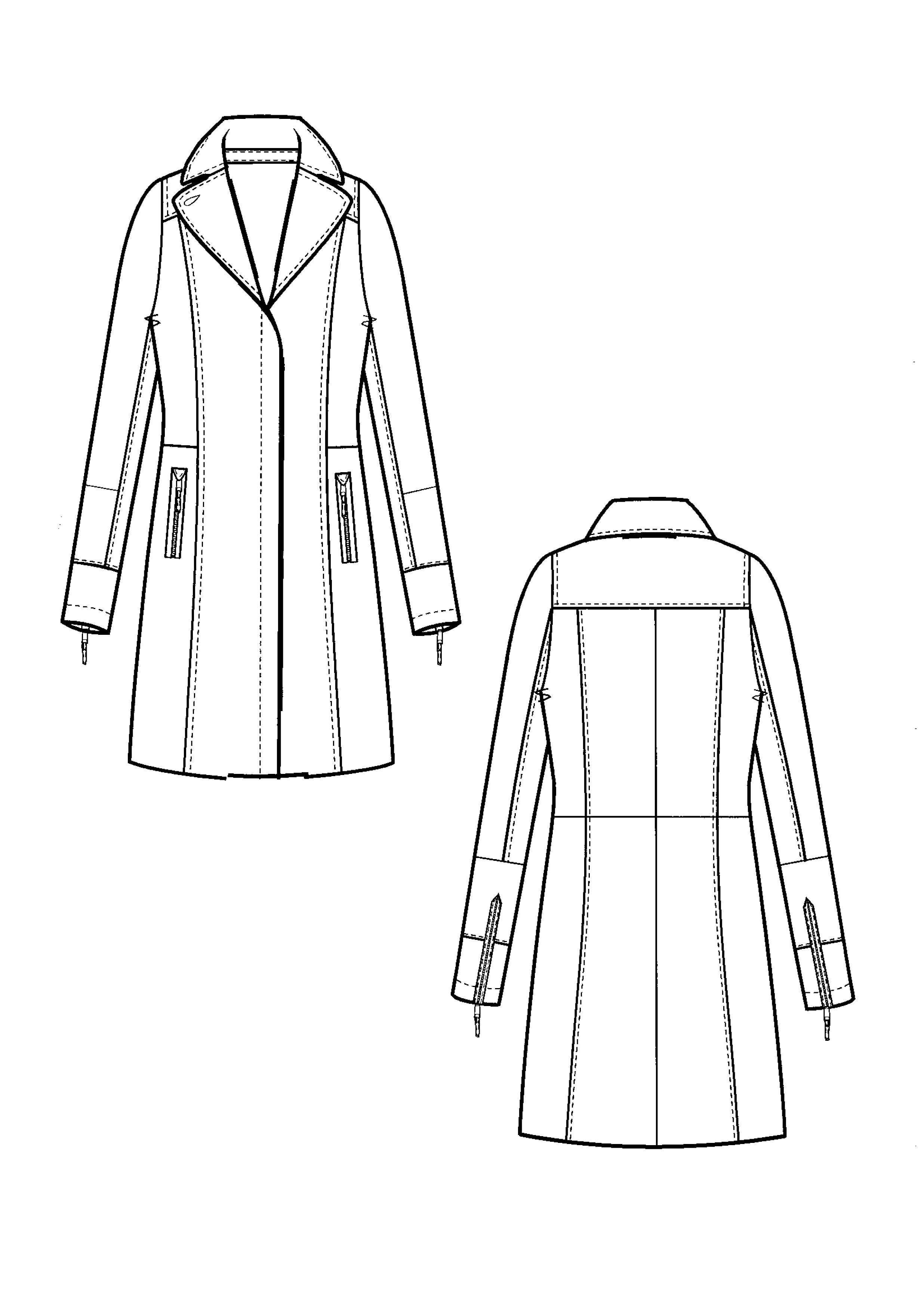 Coat Technical Drawing At Paintingvalley