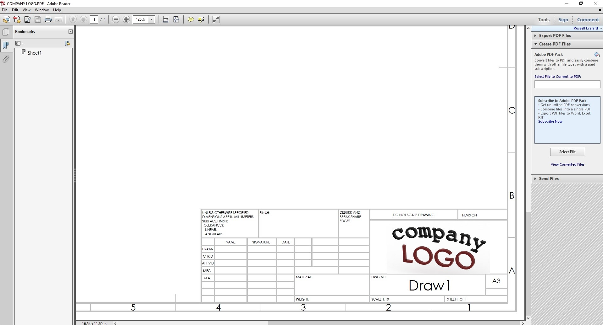 hight resolution of 1918x1036 add your own custom logo to a drafting sheet in solidworks company drawing