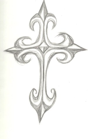 cross drawings gothic cool crosses scketch drawing sketch sketches deviantart pencil paintingvalley