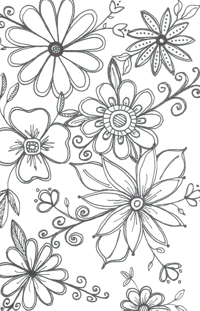 cool flower drawings at