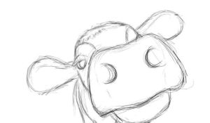 cow easy drawing draw face drawings paint google paintingvalley
