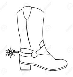 1300x1300 cowboy boot outline clip art cowboy boot line drawing cowboy boot line drawing [ 1300 x 1300 Pixel ]