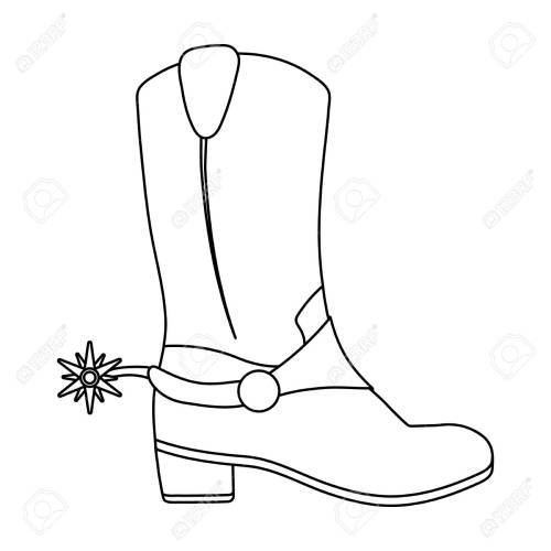small resolution of 1300x1300 cowboy boot outline clip art cowboy boot line drawing cowboy boot line drawing