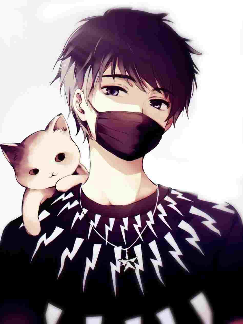 cute anime boy drawing