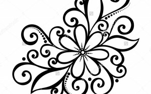 drawings easy drawing flower simple pencil patterns cool pattern flowers draw designs scenery nature sketch clipartmag rose couple paintingvalley very