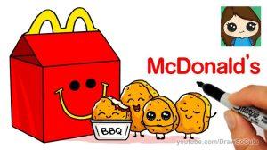 drawing draw easy drawings kawaii meal happy mcdonald chicken fun step sauce nuggets mcdonalds paintingvalley piece getdrawings christmas drawsocute explore
