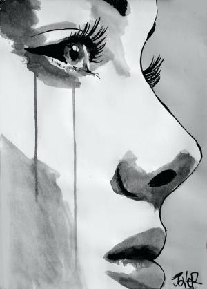 drawing depressing drawings sad depressed alone paintingvalley