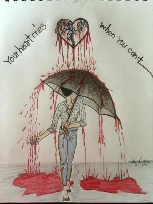 sad drawings drawing meaningful broken heart draw emotional heartbroken depressing easy sketch pencil hearts breakup sketches painting simple depression boy