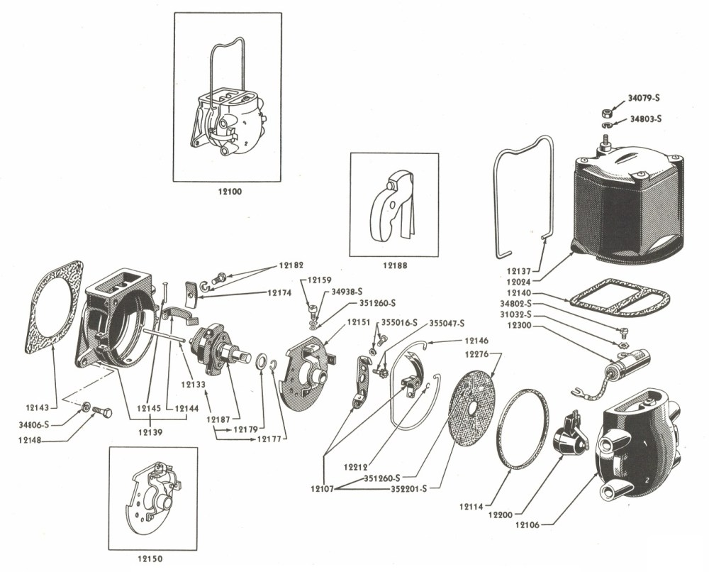 medium resolution of 1316x1062 ford distributor diagram distributor drawing