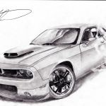 Dodge Challenger Drawing At Paintingvalley Com Explore Collection Of Dodge Challenger Drawing