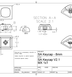 3300x2550 sa keycap technical drawing cad models available in comments drawing comments [ 3300 x 2550 Pixel ]