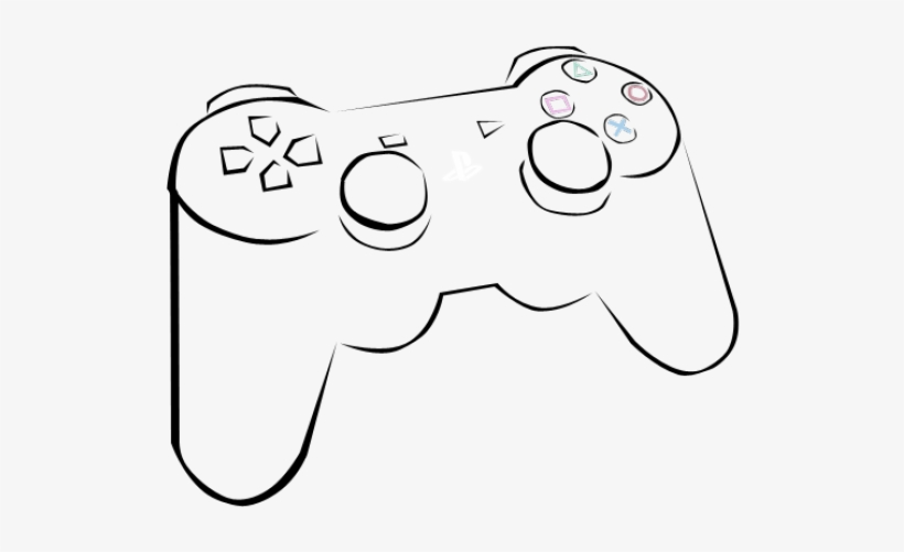 Drawing Of A Ps3 Controller at PaintingValley.com