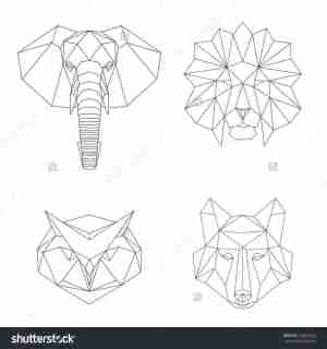 geometric shapes drawing using easy animals draw drawings paintingvalley