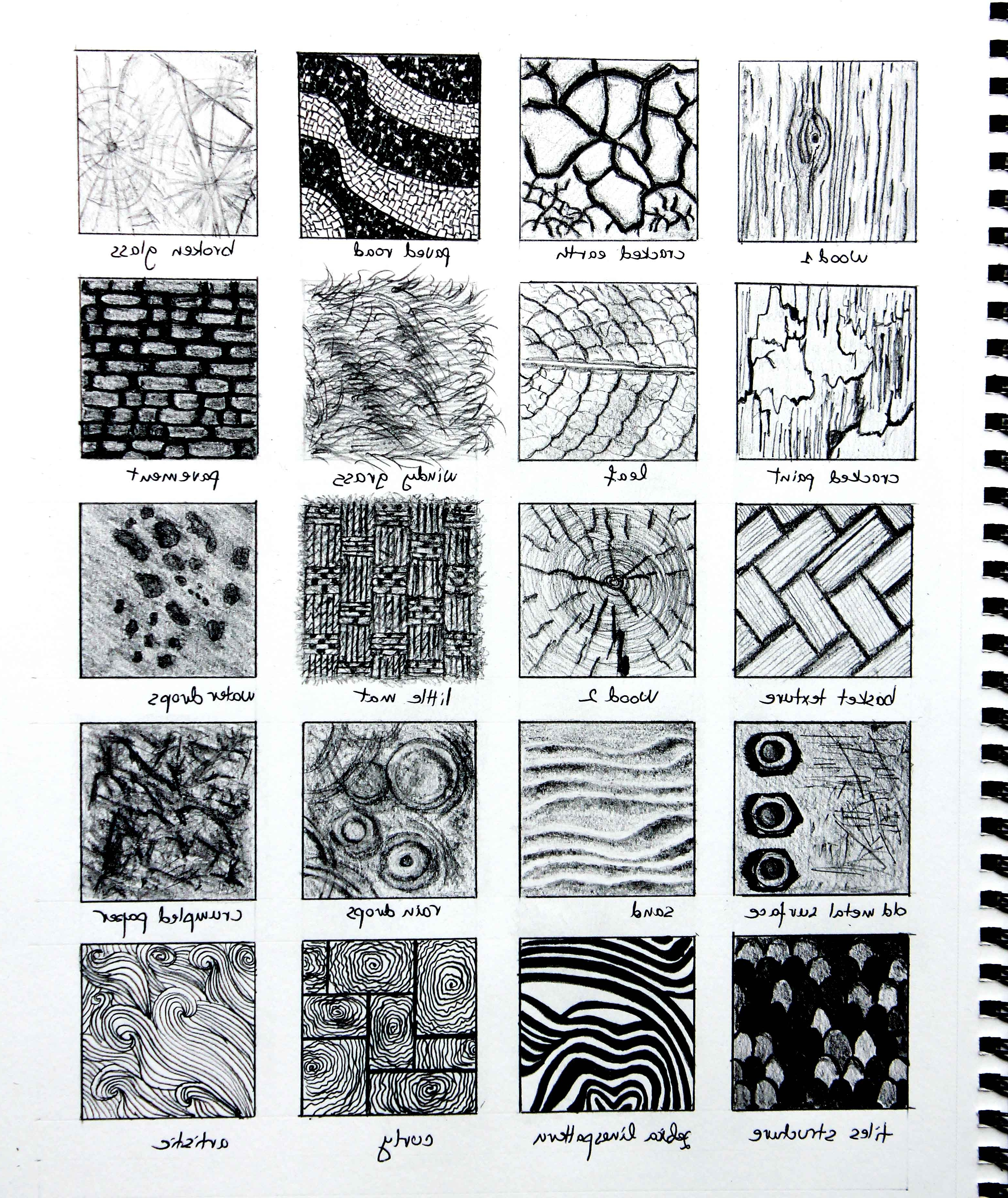 Drawing Textures With Pencil At Paintingvalley