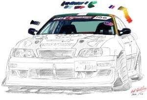 jdm drawing drift portrait drawings paintingvalley sticker