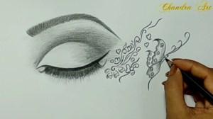 cool eye easy sketch drawings simple pencil drawing sketches paintingvalley