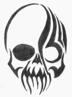 easy cool drawings drawing paintingvalley random skull