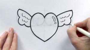 easy drawing boyfriend heart drawings cartoon draw valentine sketches hearts getdrawings valentines wings beginners paintingvalley