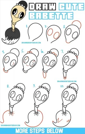 easy disney characters draw drawing step drawings kawaii paintings chibi tutorial creative sketches steps babette beast paintingvalleycom result drawinghowtodraw