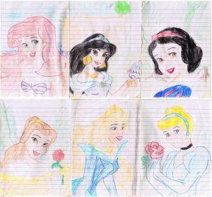 disney princess easy drawing princesses draw drawings fanpop mulan paintingvalley