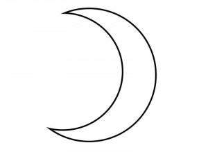 moon crescent drawing easy simple paintingvalley drawings