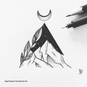 easy drawings tattoo pen tattoos simple sketch drawing draw sketches designs mountains move illustrator minimal illustration svartur eva pencil instagram