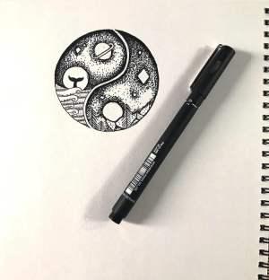 pen drawings easy aesthetic beach drawing paintingvalley