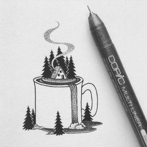 pen easy drawings drawing paintingvalley
