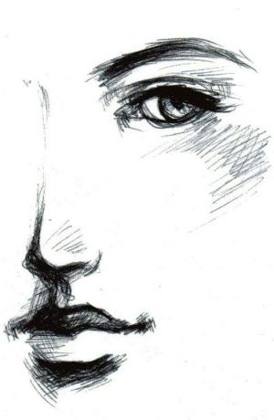 drawings pen easy drawing sketch paintingvalley face