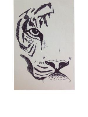 pen drawings easy ink drawing tiger painting paintingvalley watercolor paintings paint