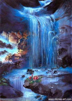 waterfall drawing easy painting paint acrylic classes paintings drawings draw academy nz lessons elena esina auckland explore waterfal