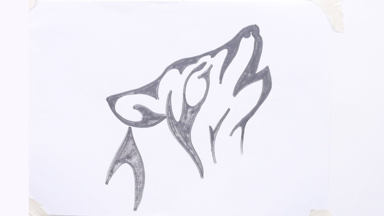 Wolf Tattoo Drawings Easy