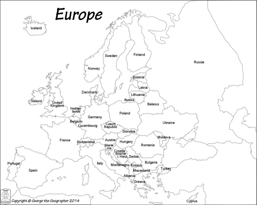 Europe Map Drawing At Paintingvalley